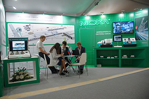Moxa exhibition stand at Expo 1520 in 2017