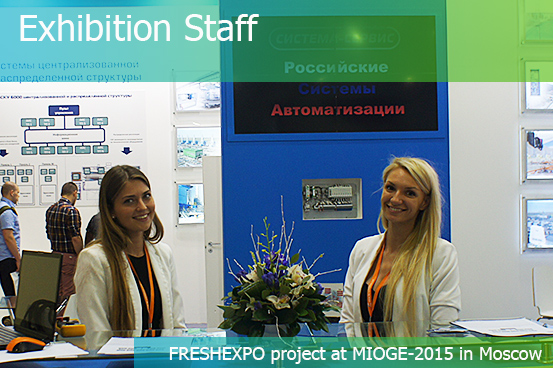 EXHIBITION STAFF: models, interpreters, consultants, waiters – FRESHEXPO company