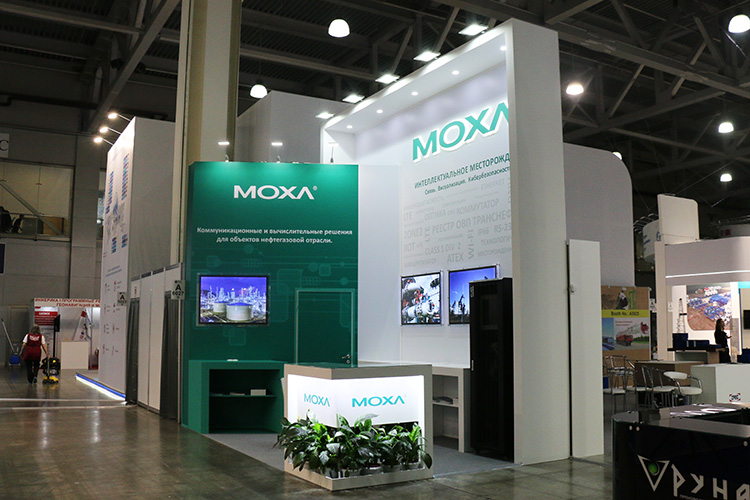 MOXA exhibition stand at MIOGE 2019
