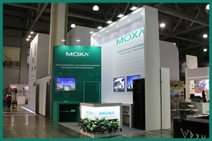 Our team made a custom-built exhibition stand for MOXA Company for the MIOGE International Oil and Gas Exhibition