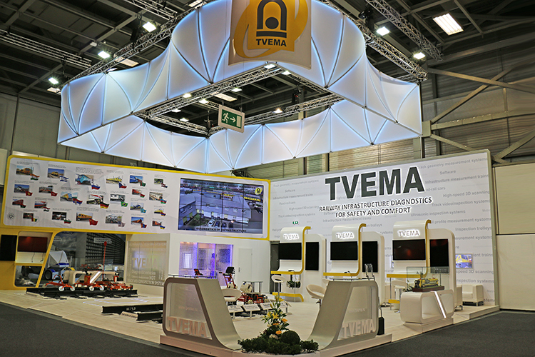 Exhibition Stand Trends 2018 : Tvema exhibition stand at innotrans