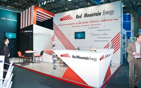 Red Mountain Energy Corporation Exhibition Stand at KIOGE 2011
