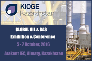 KIOGE 2016 — the key event in Oil & Gas industry — takes place in Almaty