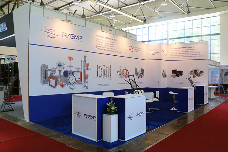 The FRESHEXPO Co experts organized participation of Zorya-Mashproekt Gas Turbine Research and Production Complex and RIZUR in OGU exhibition with individual construction the exhibition stand