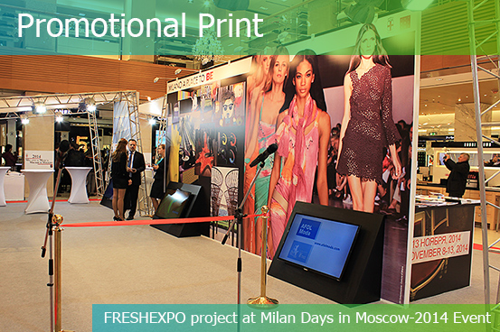 PROMOTIONAL PRINT for Exhibitions - FRESHEXPO company