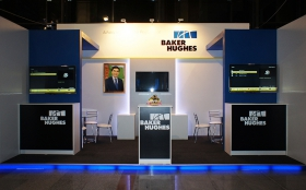 Baker Hughes Exhibition Stand at OGT 2014