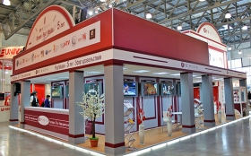Red Media TV Holding Exhibition Stand at CSTB 2011