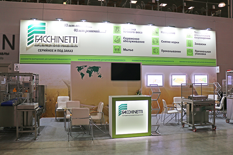 Faccinetti exhibition stand at DairyTech 2020