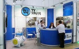 TY VALVE Exhibition Stand at MIOGE 2013