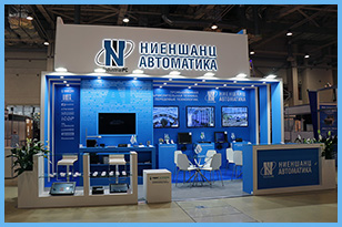 The FRESHEXPO team designed and brought into reality the design-project of the stand for Niyenshants-Avtomatika at INTERPOLITEX exhibition
