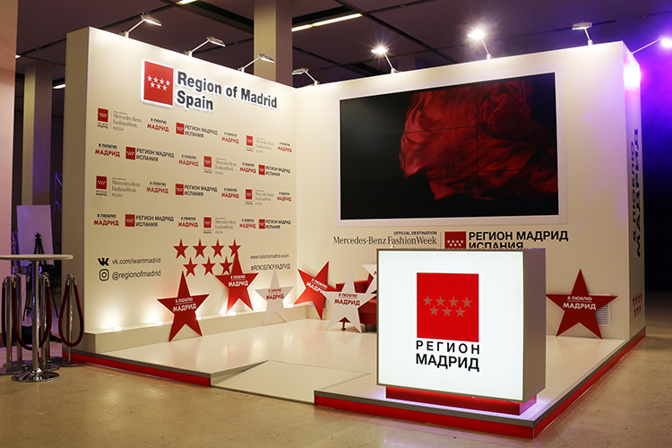 «Region of Madrid Spain» exhibition stand at MERCEDES BENZ FASHION WEEK 2019