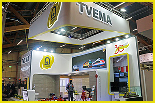 The FRESHEXPO team has brought TVEMA stand into reality at Elmia Nordic Rail 2019, the international railway transport fair