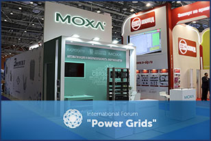 The FRESHEXPO team developed design-projects and brought exhibition stands for Moskabelmet and MOXA into reality at Power Grids 2019