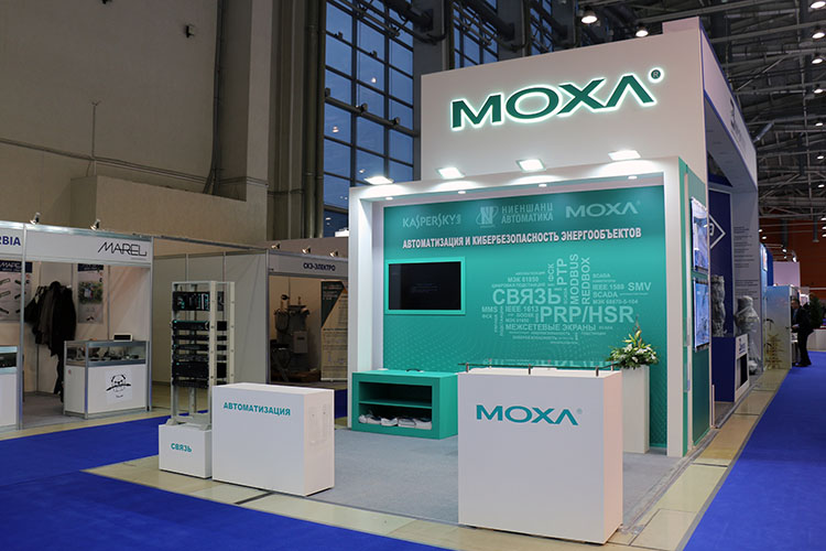 MOXA exhibition stand at Power Grids 2019