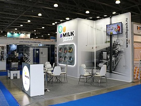 The FRESHEXPO experts designed and brought into reality an exhibition stand for MILK at Pharmtech & Ingredients